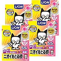 【Amazon.co.jp限定】 ニオイをとる砂 猫砂 フローラルソープ 1)5.5Lx4袋 (ケース販売)
