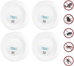 Moszero 害虫駆除器 コンセント式 超音波 虫除け器 ネズミ ゴキブリ 蚊 駆除 4個セット 120平米