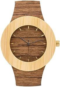 [アナログウォッチコー] 腕時計カーペンター チーク & 竹バンド 正規輸入品