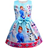 FUNTEKS Little Girls Princess Costume Party Dress Snow Queen Cosplay Dress up