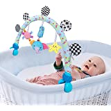 Travel Arch Stroller Toy for Infant & Toddlers, Baby Crib Accessory & Pram Activity Bar Toy for Senses and Motor Skills Devel