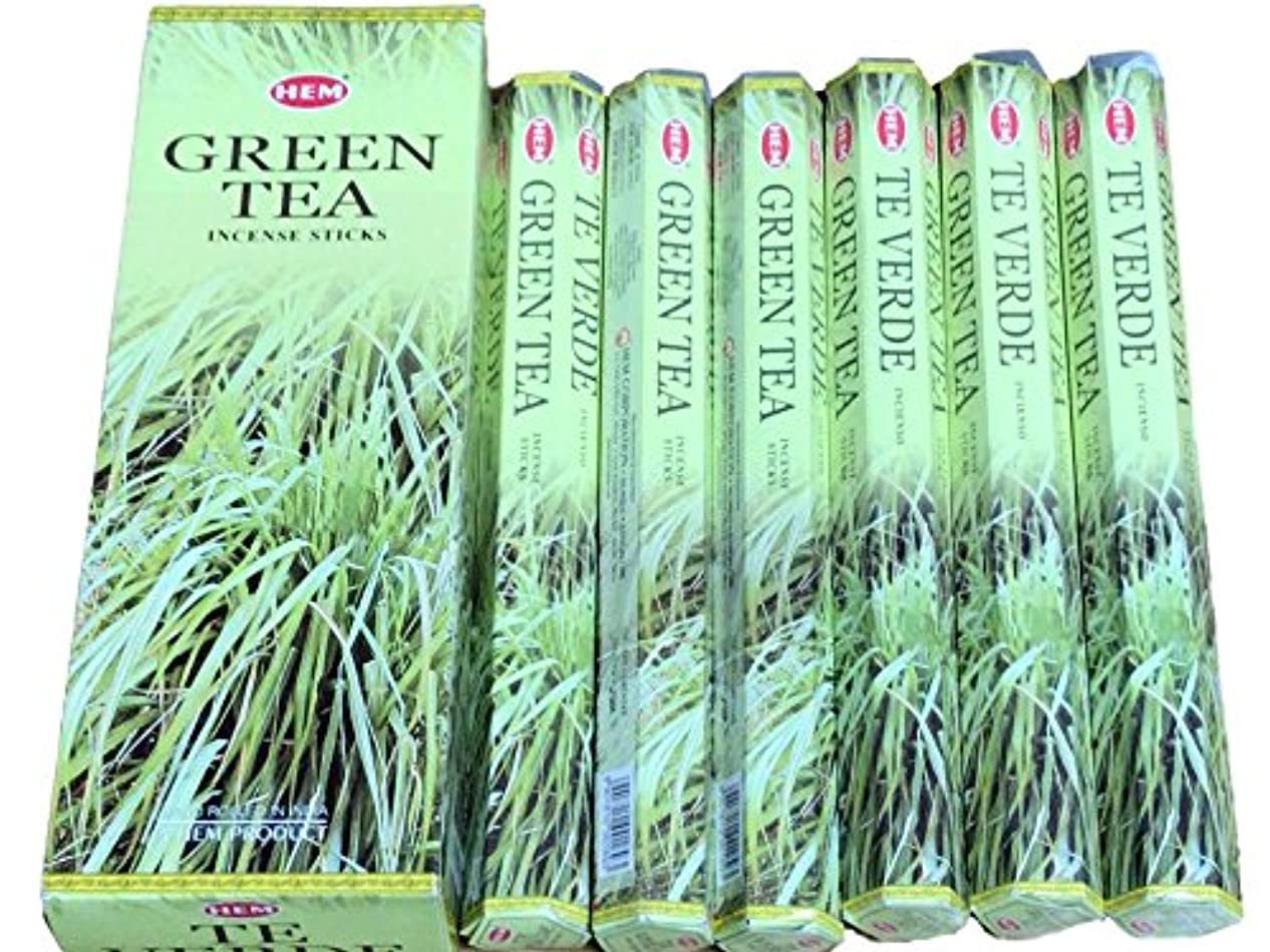 よろしくつぶやき野望HEM ヘム グリーンティー GREENTEA ステック お香 6本 セット