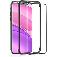 OAproda iPhone 11 / iPhone XR 用 ガラスフィルム 全面保護 強化ガラス【ガイド枠付き/ケー…