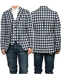 (タリアトーレ)TAGLIATORE メンズシングル2Bジャケット MONTECARLO / 1SMC22K 77QEG056 ネイビー×ホワイト [並行輸入品]