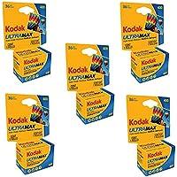 Kodak 6034078カラーネガフィルムUltramax 400( ISO 400) 35mm 36枚撮りCarded 5パック