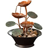 Bits and Pieces - Indoor Water Lily Water Fountain-Small Size Makes This A Perfect Tabletop Decoration - Compact and Lightwei