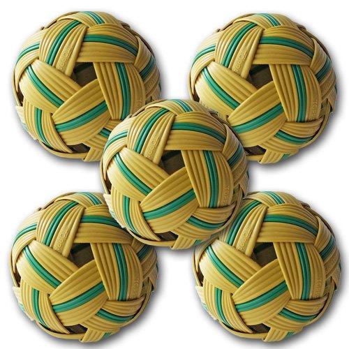 お買得5個セット セパタクローボール 初めてのセパタクロー 遊び用 練習用 リフティング タイ