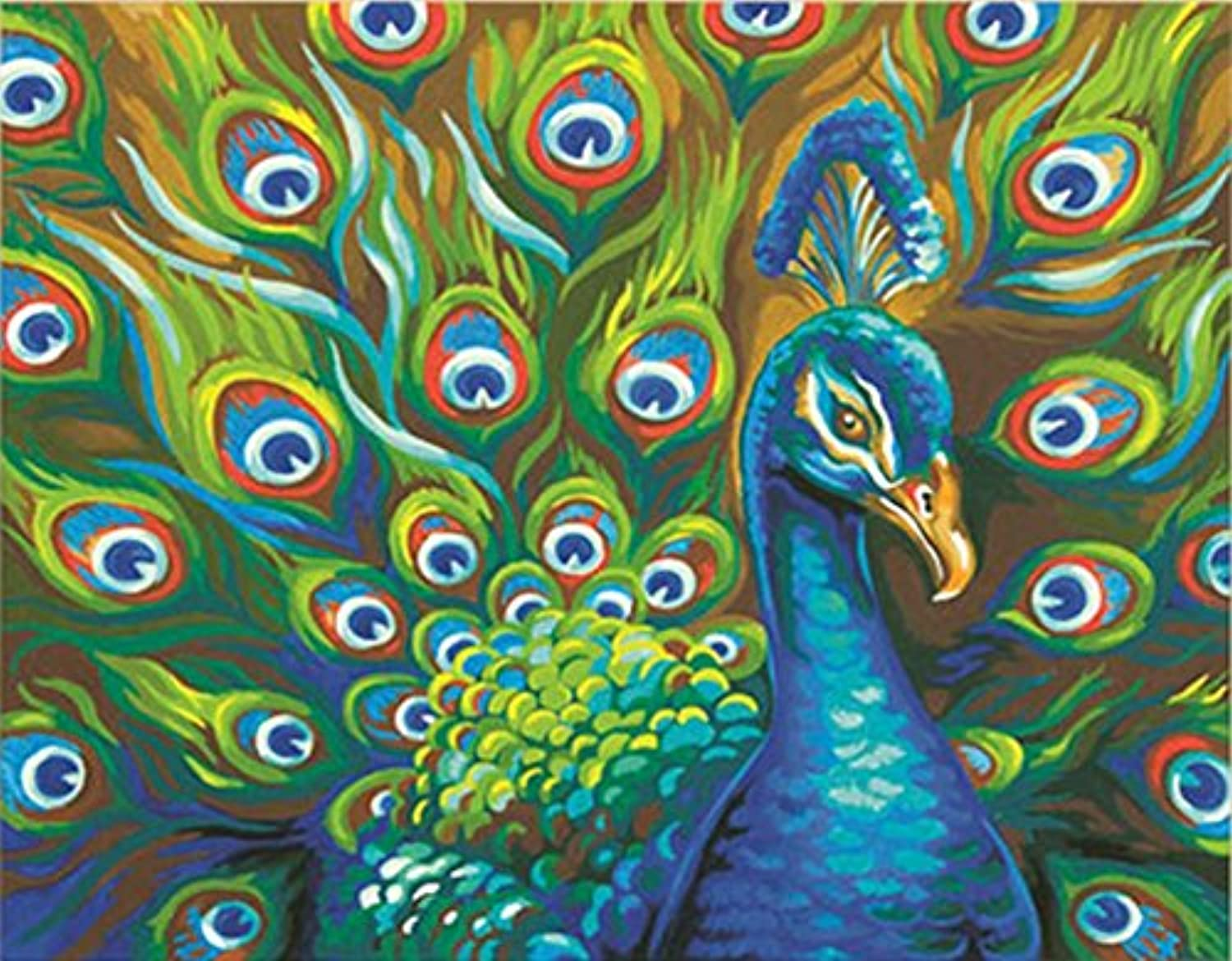 Paintworks 14 x 11-inch Wild Feathers Paint Kit