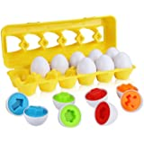 モンテッソーリ 教育おもちゃ 知育玩具 マッチング卵 Bacolos 形合わせ はめ込みパズル イースターマッチングエッグ 6カラー&12形状 図形 お誕生日プレゼント 6歳以上対象