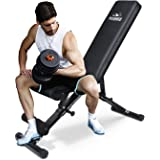FLYBIRD Adjustable Weight Bench, Utility Gym Bench for Full Body Workout, Multi-Purpose Foldable Incline Decline Benchs - 201