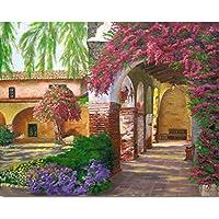 LovetheFamily 数字油絵 数字キット塗り絵 手塗り DIY絵 デジタル油絵 美しい庭園と公園 40 x 50 cm ホーム オフィス装飾