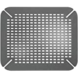 InterDesign Contour Kitchen Sink Protector Mat, Charcoal