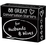 88 Great Conversation Starters for Husbands and Wives *€* Romantic Card Game for Married Couples *€* Christian Games, Communi