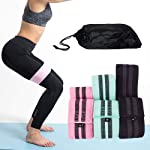 Bloodyrippa Fabric Resistance Loop Bands Set, 3 Resistance Level, Anti-Slip, Hip Booty Exercise Bands for Legs, Butt...