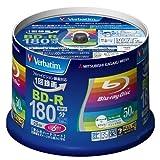 三菱化学メディア Verbatim BD-R(Video) 1回録画用 180分 1-6倍速 50枚スピンドル VBR130RP50V4 【まとめ買い×3セット】