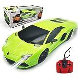 QUN FENG 1/18 Lamborghini ランボルギーニ ラジコン ラジコンカー こども向け リモコンカー 車のおもちゃ 電動RCカー レース ミニカー 高速車 ラジコンくるま おもちゃ カー LED搭載 男の子 子供のおもちゃ 知育玩具