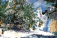 手書き-キャンバスの油絵 - 美術大学の先生直筆 - Orange Tree Nassau aka Orange 森とジャングル and Gate Winslow Homer 絵画 洋画 複製画 ウォールアートデコレーション -サイズ02