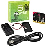 KEYESTUDIO BBC Micro:bit Kit with Microbit V2 Board, AAA Cell Battery Box, USB Cable for Beginners Mini PC to Learn Programmi
