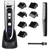 YOHOOLYO SURKER Hair Trimmer Hair Clippers Haircut Kit LED Display Ceramic Blade Rechargeable with AU Plug