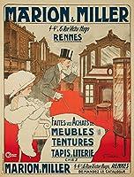 Marion and Millerヴィンテージポスター(アーティスト: carenove )フランスC。1911 12 x 18 Art Print LANT-61791-12x18