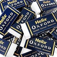 Helix オックスフォード エクストラスモール スリーブ消しゴム - ホワイト - ポリ塩化ビニルフリー - 6個パック - 1個購入 無料