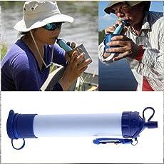 Honel 携帯型浄水器 浄水ストロー FDA認証 直飲み アウトドアミニポータブル浄水器・災害用浄水器・防災用品 登山、冒険時、緊急時に安全な水を提供