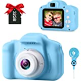 GKTZ Children's Camera Digital Kids Cameras with 2 Inch IPS Screen Rechargeable Video Camcorder Camera Toys Gifts for 3 – 8 Y