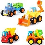 LIDODO建設車両フリクションカー 砂場 おもちゃ 子供用楽工事用車チーム玩具慣性車ミニカー 工事カー おもちゃミニシ…
