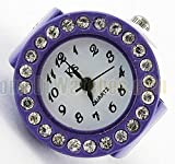 Amazon.co.jpおしゃれの新スタイル 指輪と時計が一体化 指輪型 時計 ウォッチリング サイズフリー (パープル) SD-NBW0RI6875-PP
