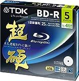 TDK 録画用ブルーレイディスク 超硬シリーズ BD-R 25GB 1-4倍速 ホワイトワイドプリンタブル 5枚パック 5mmスリムケース BRV25HCPWB5A