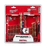 Milwaukee Shockwave Titanium Red Helix Drill Bit Set (20-Piece)