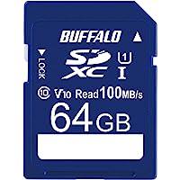 バッファロー SDカード 64GB 100MB/s UHS-1 スピードクラス1 VideoSpeedClass10 I…