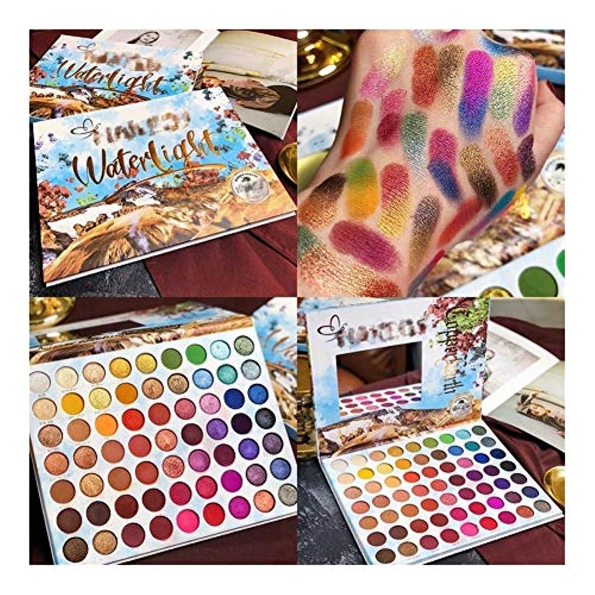 警察署犯罪肌寒いメイクアップアイシャドウパレット63色夏コレクションマットシマーキラキラ顔料アイシャドウパレット化粧品 (Color : D)