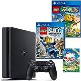 PlayStation 4 ジェット・ブラック 500GB + LEGO (R) ワールド 目指せマスタービルダー+レゴ (R) シティ アンダーカバー + New みんなのGOLF ダウンロード版【Amazon.co.jp限定】オリジナルカスタムテーマ配信