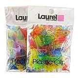 Laurel プラスチッククリップ A-LC01×2P 100個入 2袋セット