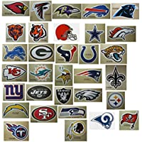 NFL Team Logo Stickers Set of 50 Football Stickers (All 32 Team Logos and more) 11cm X 7cm Size