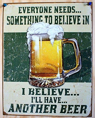 [해외]BEER 맥주 · Believe in Something 복고풍 시리즈 아메리칸 양철 간판/BEER Beer · Believe in Something Retro Series American Tin Sign
