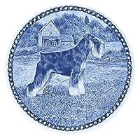デンマーク製 ドッグ・プレート (犬の絵皿) 直輸入! Standard Schnauzer / スタンダード・シュナウザー