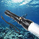 BlueFire ダイビング懐中電灯 Cree XM-L2 強力防水 100M水中ライト ダイビングライト Ledライト付 18650電池対応