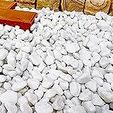天然石 玉石砂利 1-2cm 1000kg スノーホワイト (ガーデニングに最適 白色砂利)