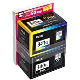 Canon 純正インクカートリッジ BC-341XL 3色カラー 大容量タイプ+BCI-340XL ブラック 大容量タイプ 【L版写真用紙50枚付】 BC-341XL+340XL2MPL50A