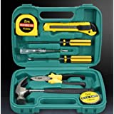 Household Hand Tools, 8 Piece Tool Set. Set. Includes – Hammer, Screwdriver Set, Pliers, Knife, Tape measure, Tester, PVC Tap