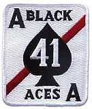 SQ18 ミリタリーワッペン アメリカ軍パッチ VF-41 BLACK ACES (ベルクロ仕様) [並行輸入品]