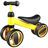 FlyCreat ペダルなし自転車 子供用 乗用玩具 キッズバイク 子ども用自転車 キックバイク バランスバイク ランニングバイク 前後4輪 倒れにくく 子供用乗り物 幼児用 1歳から3歳まで対象 男の子 女の子 トレーニングバイク 出産祝い お祝い