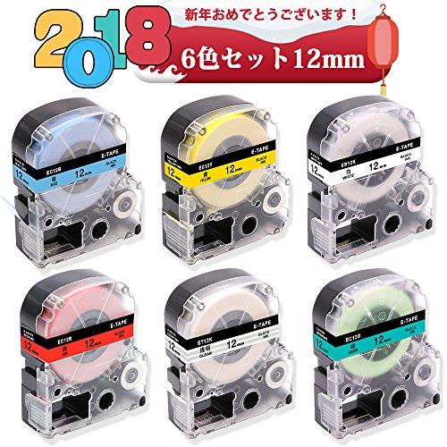 [해외]kingjim 6mm 9mm 12mm 18mm 6 색 세트/kingjim 6 mm 9 mm 12 mm 18 mm 6 color set