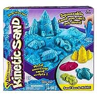 【 Kinetic Sand キネティックサンド  】Sandbox & Molds Activity Set 室内用お砂遊びセット ブルー 並行輸入品
