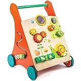tender leaf toys 木製 知育遊び付き手押し車 かわいいイギリスデザインのベビーウォーカー オモチャ おもちゃ つかまり立ち 赤ちゃん 男の子 女の子 知育玩具