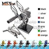 MSX-moto 可倒式 調整型 CNC アジャスタブル バックステップ 適応ドゥカティ Ducati 749/999 灰/グレー