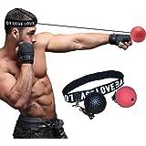 ボクシングボール パンチングボール LangRay 格闘技 打撃練習 軽量 練習用ボール 動体視力 反射神経 迅速な反応 パンチ練習 トレーニングストレス解消 ナイロンヘッドバンド 初心者用黒ボール ベテラン用赤ボール