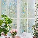 Rabbitgoo 窓 めかくしシート ガラスフィルム 目隠しシート ステンドグラス 貼ってはがせる 外から見えない おしゃれ (夢の間 60 x 200cm)